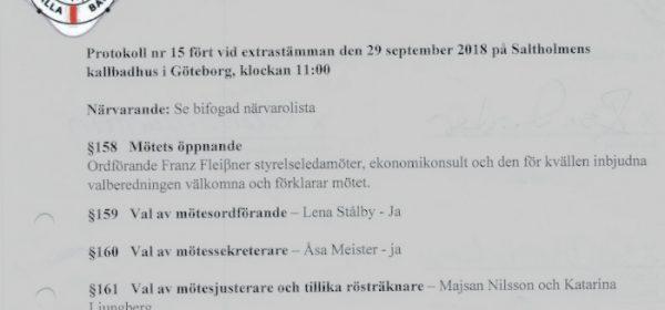 Medlemsinformation 1 oktober 2018