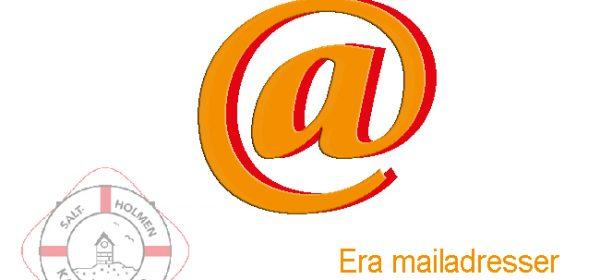 Uppdatering av era mailadresser